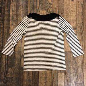 Ralph Lauren Navy/White Striped Sweater Size XS